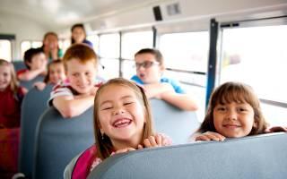 Перевозка детей на автобусе