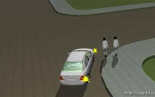 При повороте налево не пропустил пешехода