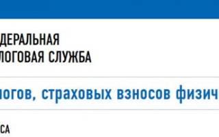 Квитанция онлайн в налоговую