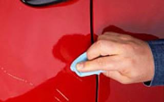 Убрать глубокую царапину на машине