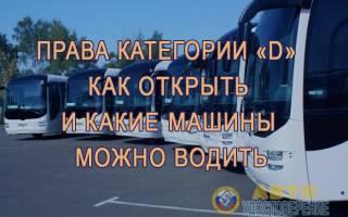 Категория прав автобус