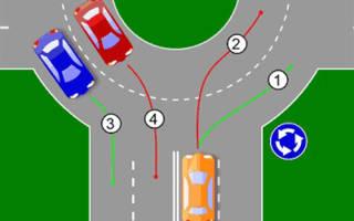 Пдд правила проезда кругового движения